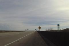 0132 - Und gleich zu Beginn des Tages Brücke über den Avoca Island Cutoff auf der Interstate 90 erklimmen