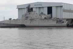 0259 - Aber auch bedrohlich wirkende Kriegsschiffe der Marine