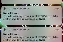 0395 - Am Abend dann plötzlich Tornado-Warnung, zum Glück ist nichts passiert