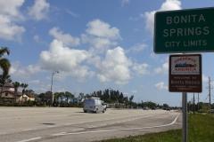 0487 - Das Schild verkündet es, Tagesziel Bonita Springs ist erreicht