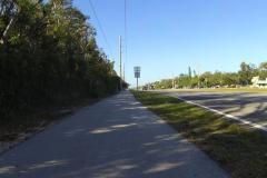 0549 - Radweg entlang Key Largo - schön im Schatten gelegen