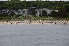 Der Strand war schon recht gut besucht und es sind auch einige ins Wasser gegangen