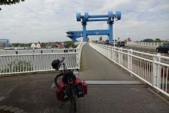 Bei Wolgast ging es über diese Brücke zurück von Usedom aufs Festland