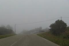 422 - Der Scheitelpunkt der Strecke komplett in den Wolken