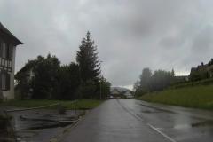 018 - Inzwischen unübersehbar - es regnet in Strömen