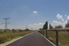 304 - Der nagelneue Radweg, ich hatte das Gefühl der Erste darauf zu sein