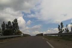 308 - Mal wieder eine Auffahrt auf eine Brücke über die Rhône