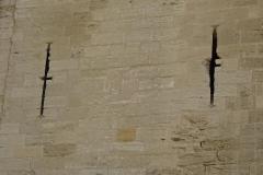 332 - Interessantes Detail, die Schießscharten hatten die Form eines Kreuzes