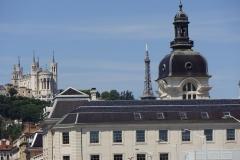 195 - Im Hintergrund Fourviere mit der Kirche Notre Dame de Fourviere