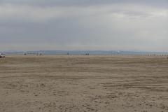 366 - Der Strand, im Hintergrund die Industriebetriebe und die riesigen Frachtschiffe