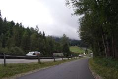 Bundesstraße hinter Bad Tölz - jedoch der offizielle Radweg