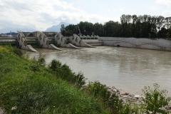 Hochwasserschutz mitten in Salzburg