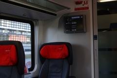 Noch waren wir pünktlich im Railjet der ÖBB