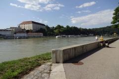 Ausfahrt aus Linz, noch auf einem Fahrradweg