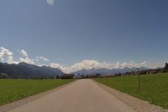 Bergab und schönes Wetter