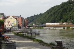 Auf dieser Seite der Altstadt fließt die Donau