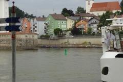 Der dritte Fluss, die Ilz, verschwindet fast neben der großen Donau und dem Inn