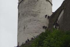 Auf der Burg war ein ganz schönes Gedränge