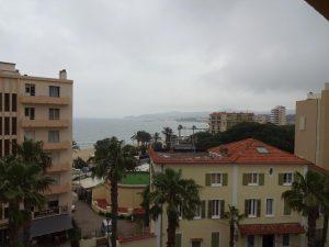 Blick vom vierten Stock über die Bucht von Le Lavandou