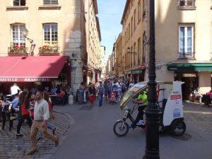 Fast nichts los in den Gassen von Lyon
