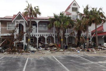 Hurricane Michael fegte im Oktober 2018 über Mexico Beach hinweg