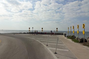 Direkt an der Küste entlang ging es zum Flughafen von Key West