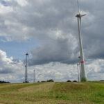 Windpark entlang der Strecke